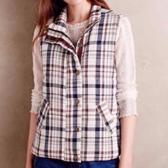 Anthropologie Jackets & Blazers - Hei Hei by Anthropologie | Women's Plaid Vest Sz M